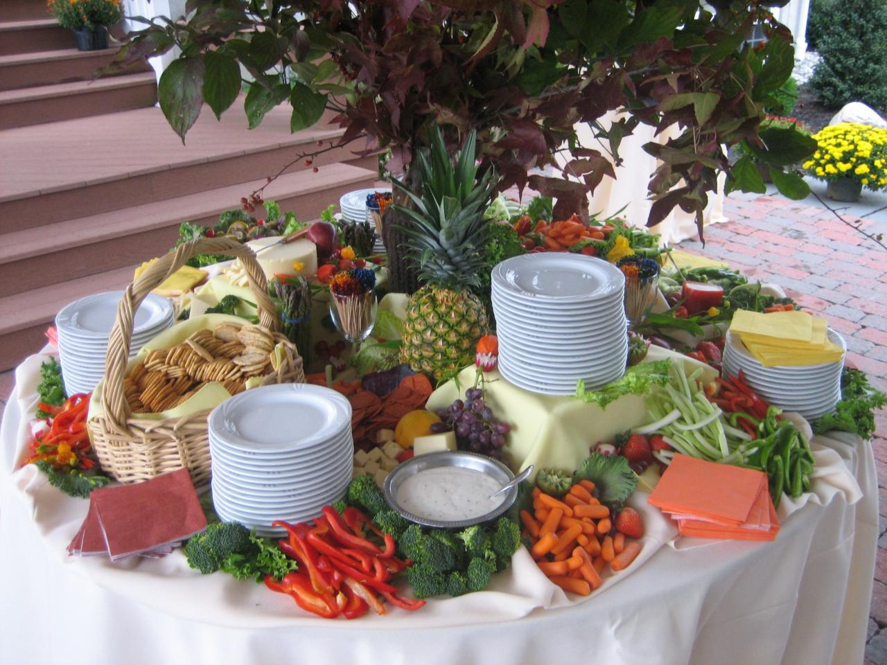 Appetizer table ideas for Appetizer decoration